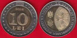 "Moldova 10 Lei 2018 ""25 Years Of National Currency"" BiMetallic UNC - Moldova"