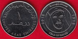 """United Arab Emirates 1 Dirham 2018 """"Year Of Zayed"""" UNC - Emirats Arabes Unis"""