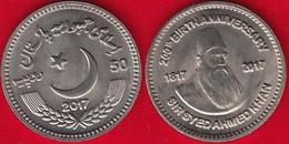 "Pakistan 50 Rupees 2017 ""Sir Syed Ahmad Khan"" UNC - Pakistan"