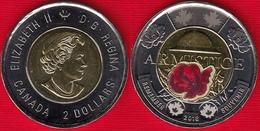 "Canada 2 Dollars 2018 ""Armistice WWI"" BiMetallic Colored UNC - Canada"
