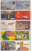 10 Télécartes France. 1992. Variées. - 1992