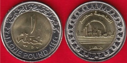 "Egypt 1 Pound 2019 ""New Capital City In Egypt"" BiMetallic UNC - Egypt"