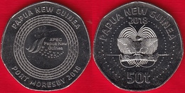 "Papua New Guinea 50 Toea 2018 ""APEC Port Moresby"" UNC - Papoea-Nieuw-Guinea"