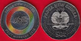 """Papua New Guinea 50 Toea 2018 """"APEC Port Moresby"""" Colored UNC - Papúa Nueva Guinea"""