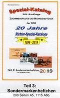 DDR 2019 Katalog Teil 3 SMH RICHTER Neu 25€ Sonder-Markenhefte+Abarten Booklets And Error Special Catalogue Germany - Catalogi