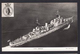 RPPC Modern Real Photo Postcard HMS Bermuda Royal Navy Ship Boat RP PC - Warships