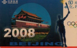 TARJETA TELEFONICA DE CHINA. BEIJING 2008. JSCU-01-2-3(3-1) (037) - Jeux Olympiques