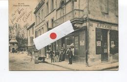 CPA - BLAYE -  Place De La Citadelle, Magasins,Animation - Epicerie  - Photo-Edit° ? - 1907 - Blaye