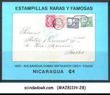 NICARAGUA - 1976 RARE & FAMOUS STAMPS - MINIATURE SHEET - MINT NH - Nicaragua
