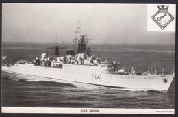 RPPC Modern Real Photo Postcard HMS Undine Royal Navy Ship Boat RP PC - Warships