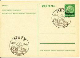 Germany Third Reich Postal Stationery Postkarte Lothringen Metz 28-2-1941 - Germany