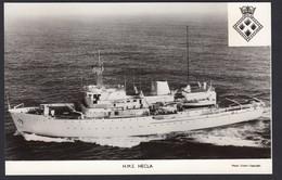 RPPC Modern Real Photo Postcard HMS Hecla British Royal Navy Survey Ship Boat - Warships