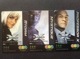 3 CARTES CINÉMA  X-MEN 2 - Thaïlande