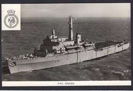 RPPC Modern Real Photo Postcard HMS Fearless Royal Navy Assault Ship Boat RP PC - Warships