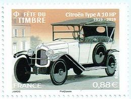 France 2019 TP Fête Du Timbre Citroën A10HP - Automobile Traction Voiture Car MNH Neuf Ou Oblitéré - Voitures