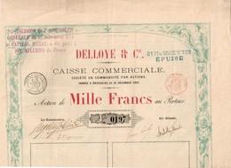 Titre Ancien - DELLOYE & Cie - Caisse Commerciale - Société En Commandite Par Actions  - Titre De 1879 - Rare - Banque & Assurance