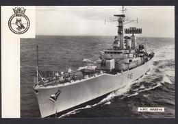 RPPC Modern Real Photo Postcard HMS Minerva Royal Navy Leander Frigate Ship Boat - Warships