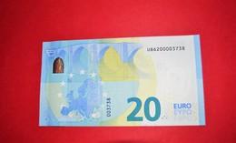 20 EURO FRANCE U010 H2 - NICE NUMBER UB 6200003738 - U010H2 - UNC NEUF - EURO