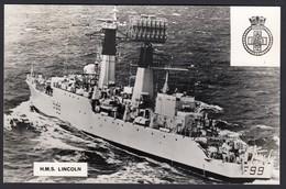 RPPC Modern Real Photo Postcard HMS Lincoln Royal Navy Type 61 Aircraft Ship PC - Warships