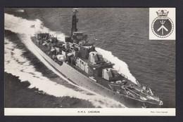 RPPC Modern Real Photo Postcard HMS Chevron Royal Navy Class C Destroyer Ship RP - Warships
