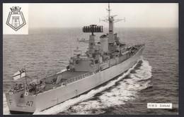 RPPC Modern Real Photo Postcard HMS Danae Royal Navy Leander Class Warship Ship - Warships