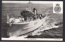 RPPC Modern Real Photo Postcard HMS Dartington Royal Navy Ship Boat RP PC - Warships