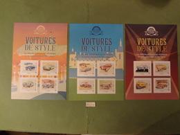"""FRANCE 2019 """" VOITURES DE STYLE """"  3 COLLECTORS  De 4 Timbres Lettre Verte ADHESIF - Collectors"""