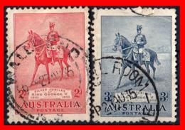 AUSTRALIA (OCEANIA) 2 SELLOS AÑO 1935 XXV ANIVERSARIO DE LA CORONACIÓN DEL REY JORGE V - 1913-36 George V : Heads