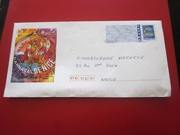 LETTRE ILLUSTRÉE CARNAVAL DE NICE Timbre Europe  France  Entiers Postaux Prêts-à-poster: Autres (1995-...) - Entiers Postaux