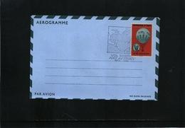 Haiti 1968 Aerogramme With Balloon Flight Postmark - Haiti