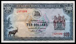 # # # Banknote Aus Rhodesien (Rhodesia) 10 Dollars 1973 # # # - Rhodesia
