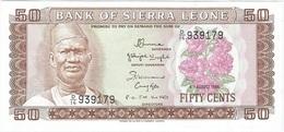 Sierra Leona - Sierra Leone 50 Cents 04-08-1984 Pick 4.e UNC - Sierra Leona