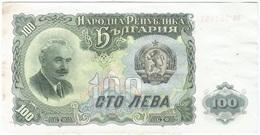 Bulgaria 100 Levas 1951, Manchas Pick 86a Ref 259-2 - Bulgaria