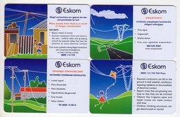 AFRIQUE DU SUD LOT 4 CARTES MTN à PUCE ESKOM DANGER OF ELECTRICITY - Afrique Du Sud