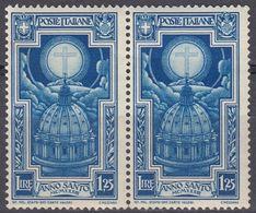 ITALIA - 1933 - Lotto Di 2 Valori Nuovi MNH Yvert 328 Uniti Fra Loro. - 1900-44 Victor Emmanuel III.