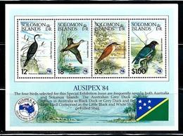 Solomon Islands   Birds  (Auxipex' 84) Souvenir Sheet  SC# 538a MNH** - Stamps