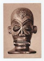 ANGOLA AFRICA 1969 POSTCARD BLACK MASK TSHIHONGO ART VOODOO ? MAGIC SORCERY ? - Angola