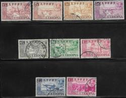 Ethiopia Scott # 327-35 Used Various Designs, 1952 - Ethiopia