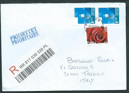 Polonia, Polska, Poland 2015; Stampworld Con Insetto + Blumen Rose. Registered To Italy. - 1944-.... Repubblica