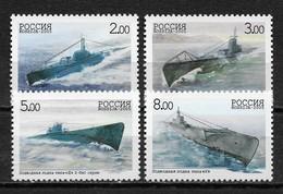 RUSSIA 2005,Submarine Forces,Submarines,Scott # 6887-6890,VF-XF MNH** (ANDR3) - Submarines