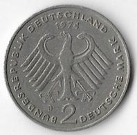 Germany Federal Republic 1974D Adenauer 2 Marks [C805/2D] - 2 Mark