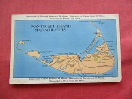 Massachusetts > Nantucket Island Map  Linen   Ref 3210 - Nantucket