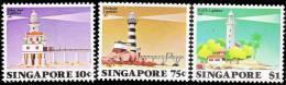 Singapore 1982 Lighthouses Stamps Island Bridge Lighthouse Coconut - Singapore (1959-...)
