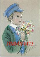 CPM - Petit Garçon Du Cotentin En Casquette à Pont Vers 1900 - Aquarelle De Marie Claude Monchaux - Les Enfants Normands - Ritratti