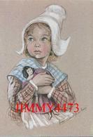 CPM - Fillette De Caen Vers 1840 - Aquarelle De Marie Claude Monchaux - Les Enfants Normands - Edit. Ouest France - Ritratti