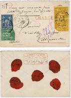 HAUTES ALPES ENV 1890 LA MOTTE DU CAIRE ( 1 TIMBRE DFT) LETTRE CHARGE VOIR LES SCANS - 1877-1920: Période Semi Moderne