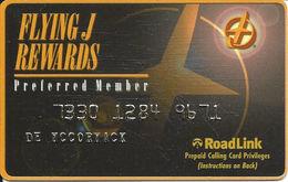 Flying J Rewards Prepaid Calling Card - Preferred Member - RoadLink - United States