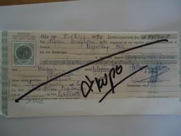 GREECE OLD  BANK BILLS   ΣΥΝΑΛΛΑΓΜΑΤΙΚΕΣ ,ΓΡΑΜΜΑΤΙΑ 600  DRX - Chèques & Chèques De Voyage