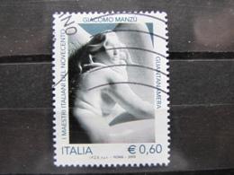 *ITALIA* USATO 2009 - MAESTRI 900 MANZU' - SASSONE 3144 - LUSSO/FIOR DI STAMPA - 6. 1946-.. Repubblica