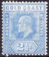 GOLD COAST 1907 KEDVII 2.5d Blue SG62 MH - Costa D'Oro (...-1957)
